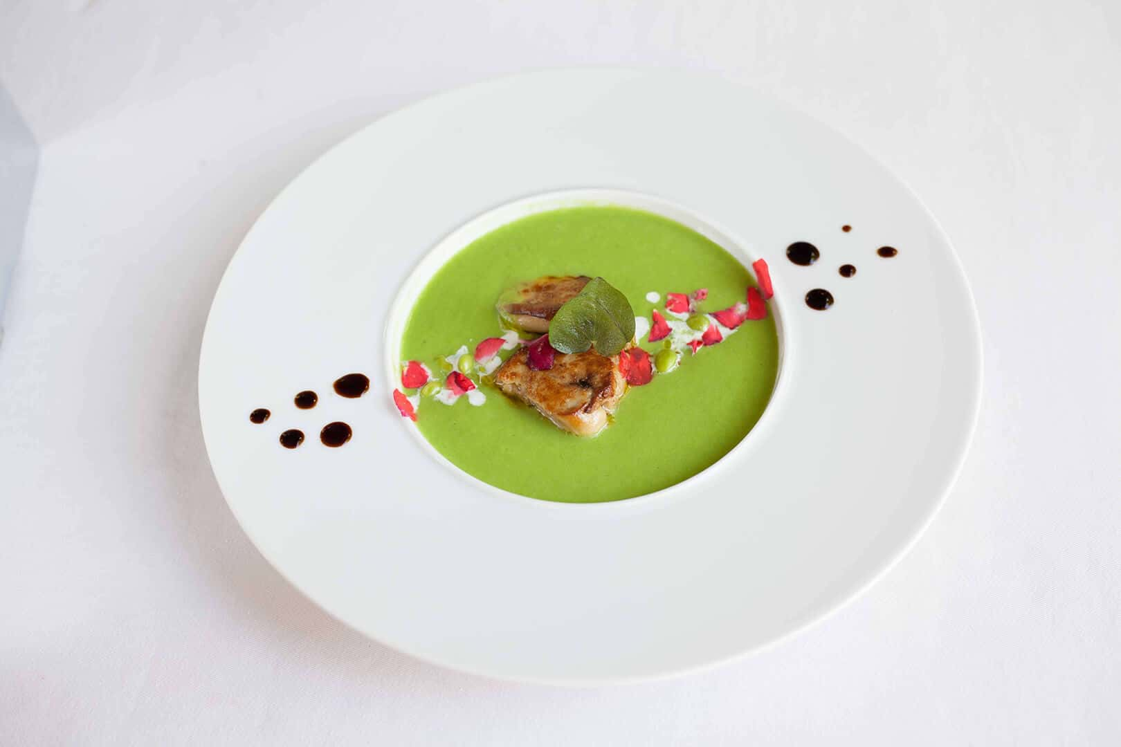 abacus-french-restaurant-siem-reap-green-pea-soup-and-pan-fried-foie-gras