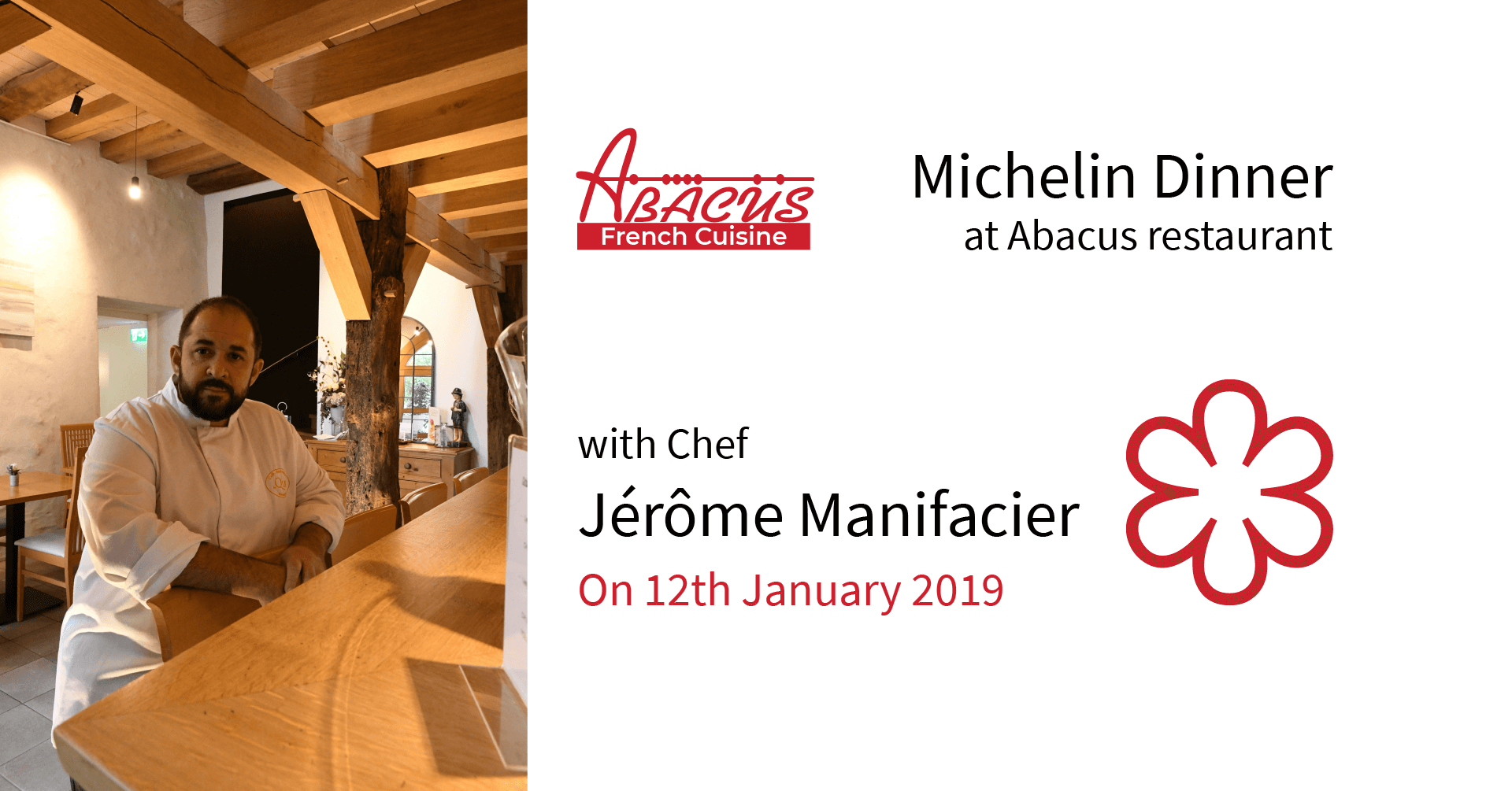 Start 2019 on the good palate with an exclusive Michelin star dinner at Abacus restaurant